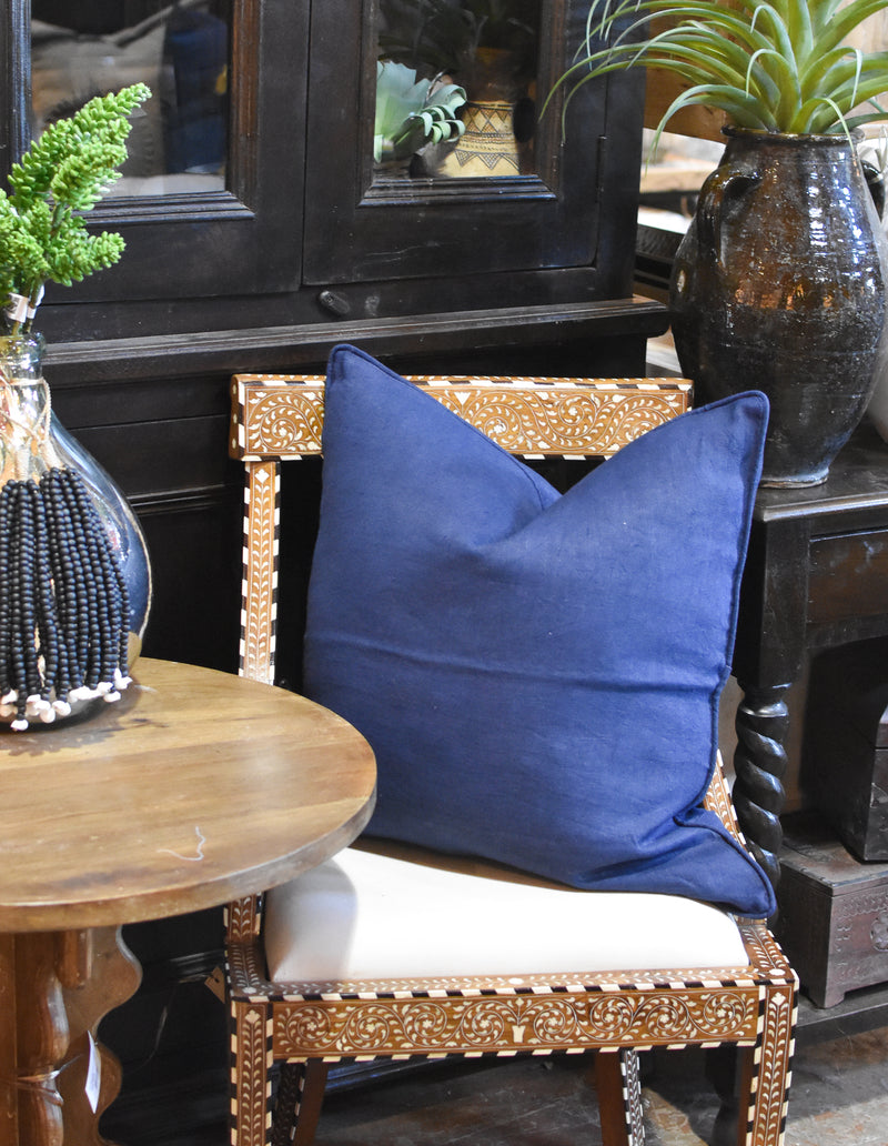 Linen Pillow - Dark Navy