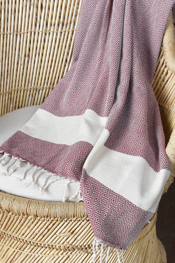 Turkish Towel - Dark Red