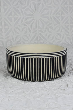 Pinstripe Cement Planter
