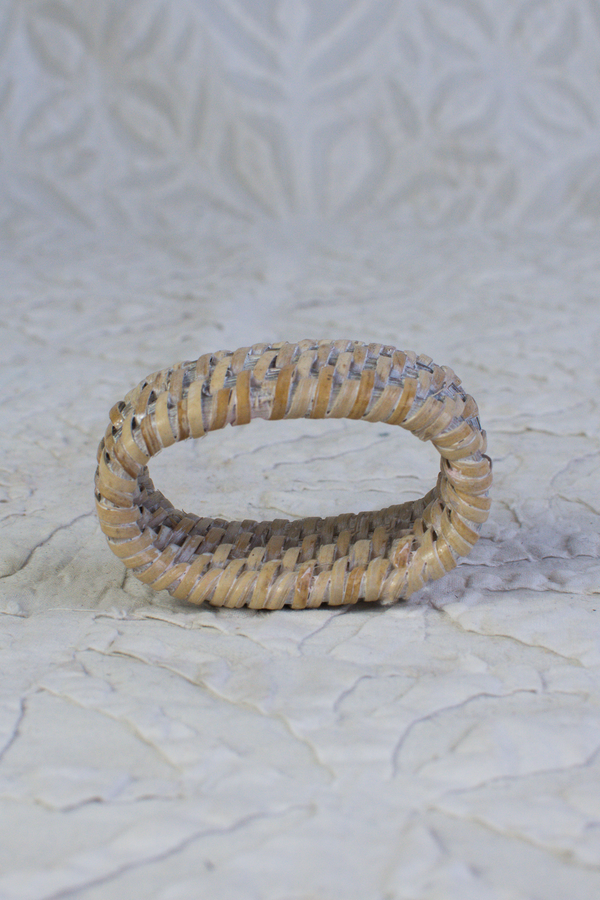 Rattan Napkin Ring - White Wash