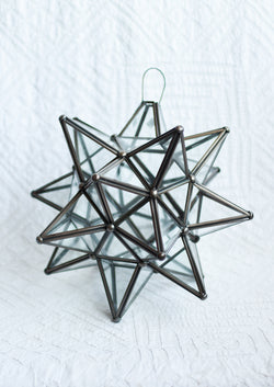 Clear Glass Moravian Star - Medium
