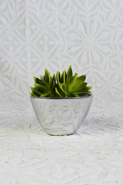 Square Polished Silver Bowl - Small