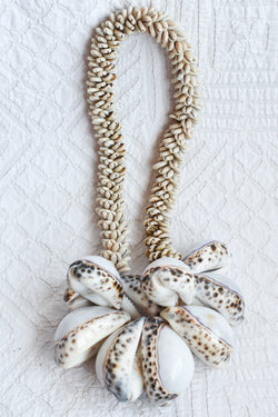 Cowrie Tassel with Tiger Shells