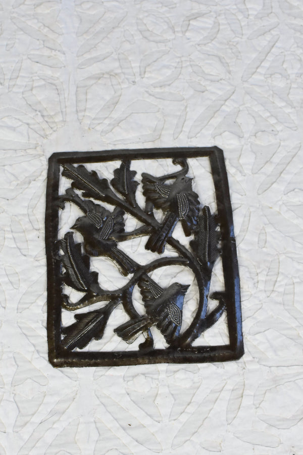 Haitian Oil Drum Metal Wall Hanging - Flock of Birds