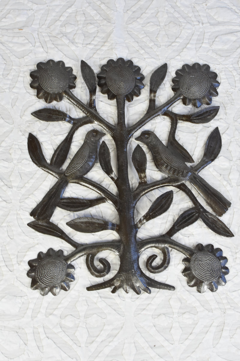 Haitian Oil Drum Art Tree of Life