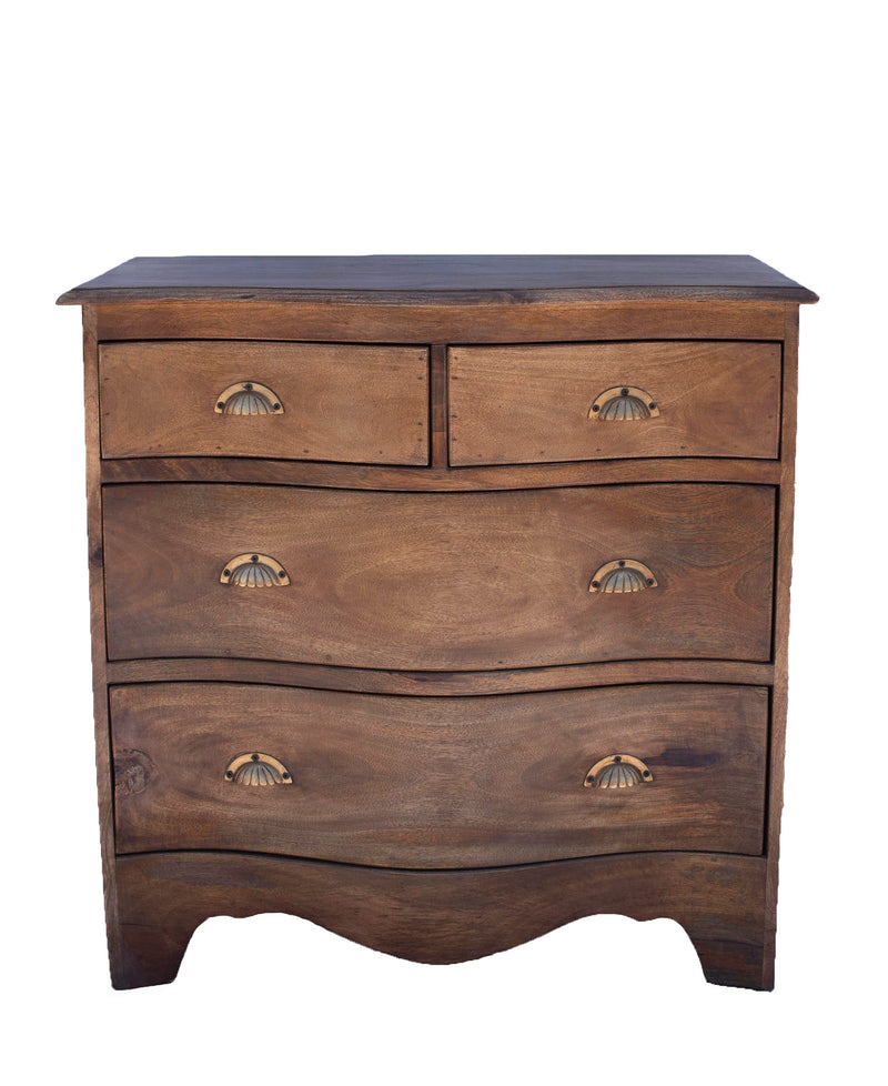 Bow Front Dresser with Wood Top