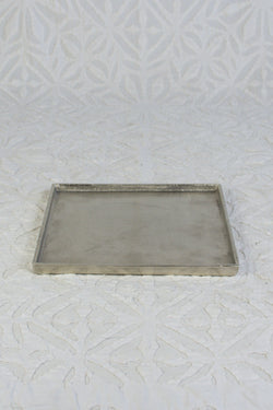 Small Square Silver Tray