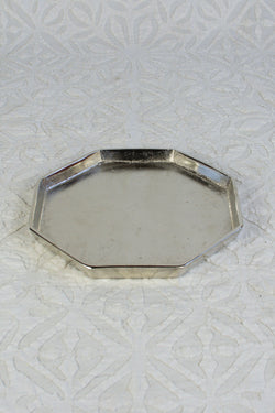 Octagonal Silvered Tray