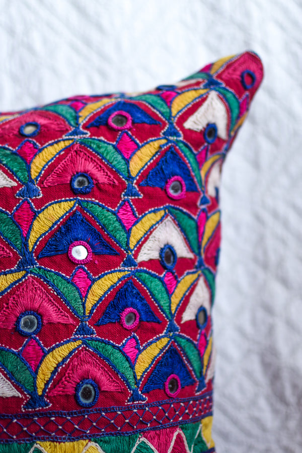 Vintage Gujarati Skirt Pillow