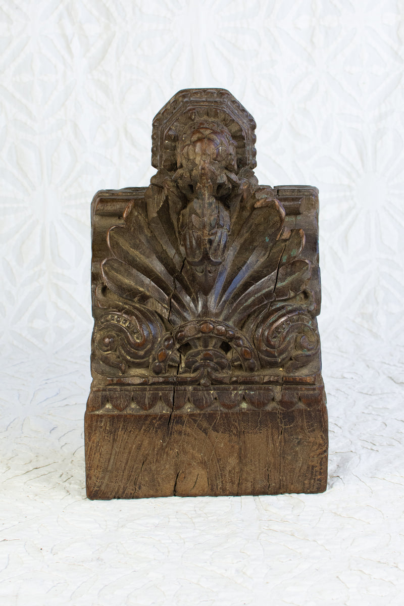 Small Carved Antique Corbel