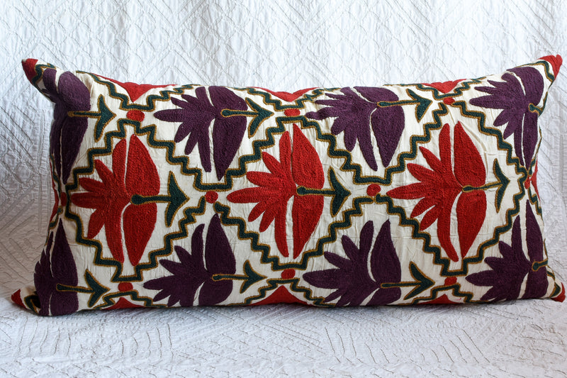 Long Rajasthani Embroidered Pillow