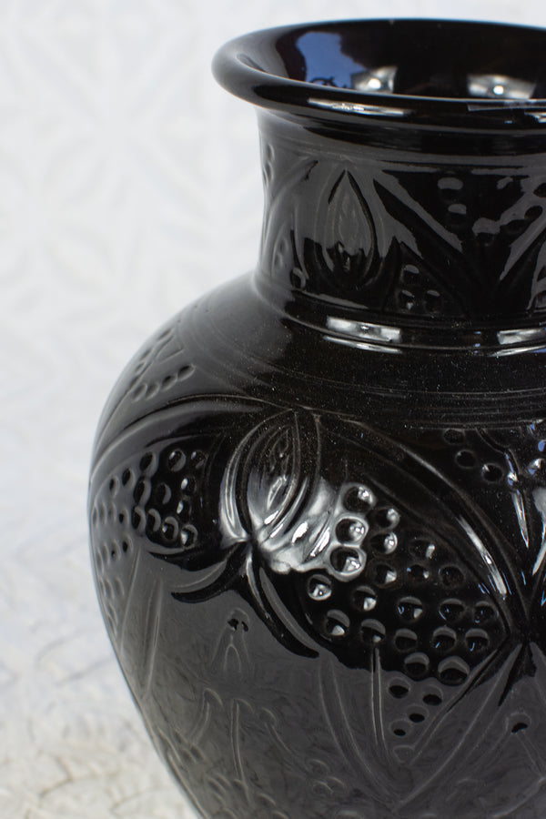 Black Carved Safi Vase