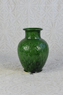 Green Carved Safi Vase