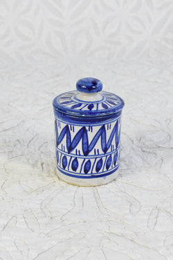 XS Moroccan Painted Canister - Blue