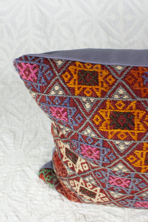Vintage Cicim Turkish Killim Pillow