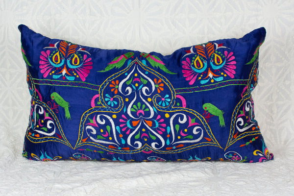 Vintage Blue Gujarati Pillow