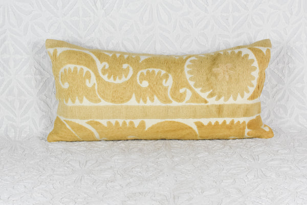 Sunshine Vintage Suzani Lumbar Pillow