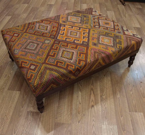 Coffee Table Ottoman Vintage Turkish Zilli