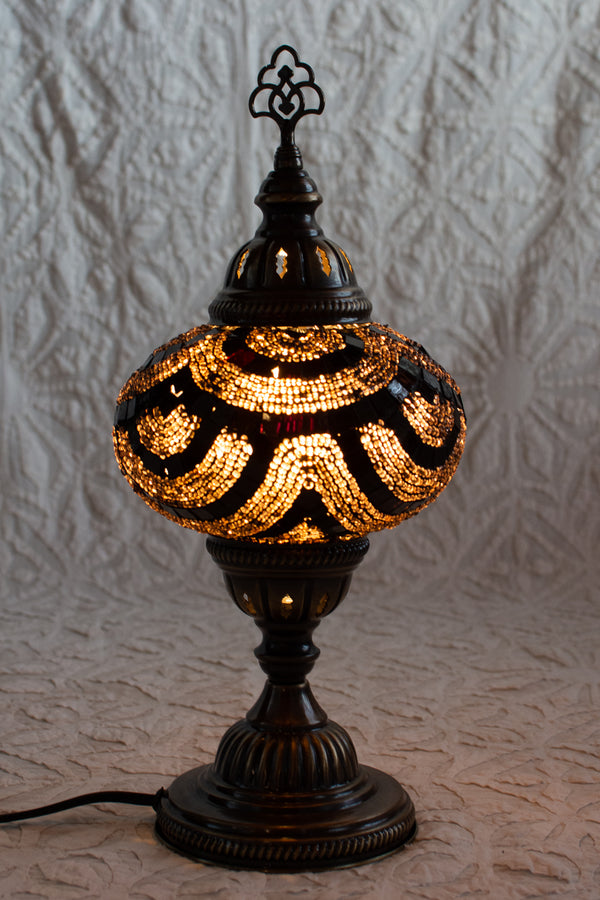 Gold Mosaic Table Lamp Large