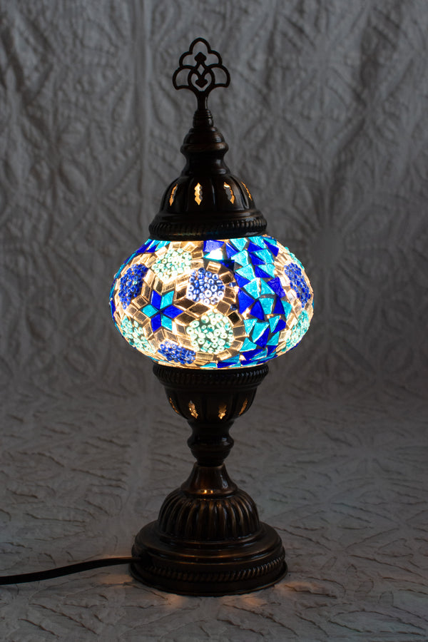 Blue Turkish Mosaic Table Lamp Small