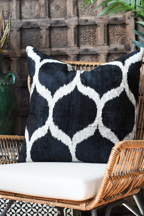 "Silk Velvet Ikat 22"" Pillow"
