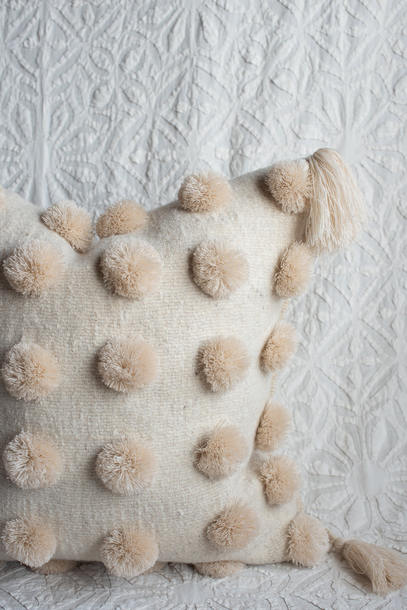 Handwoven Chiapas Pompom Pillow