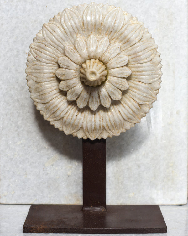 Marble Floret on Iron Stand