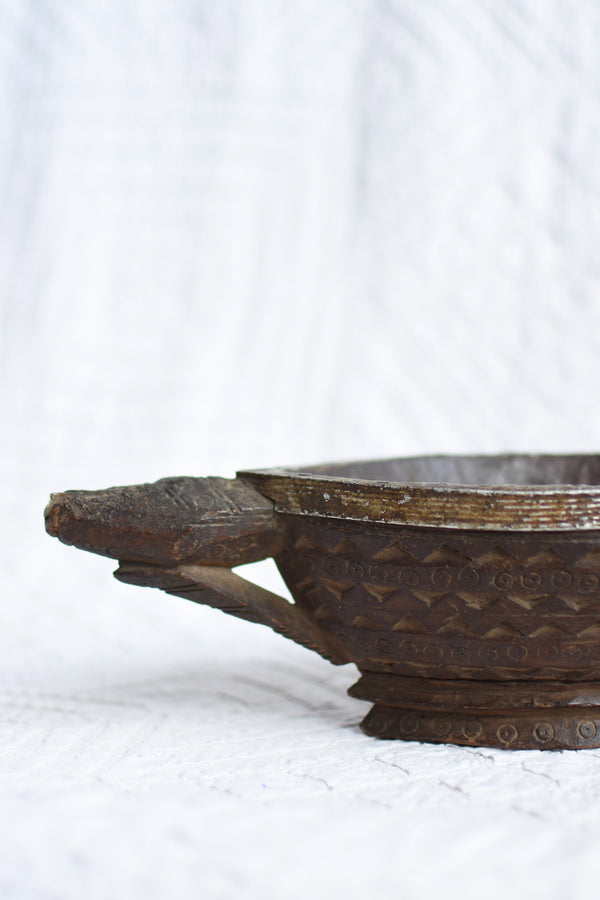Old carved bowl