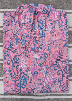 Hand Blockprinted Robe from Jaipur