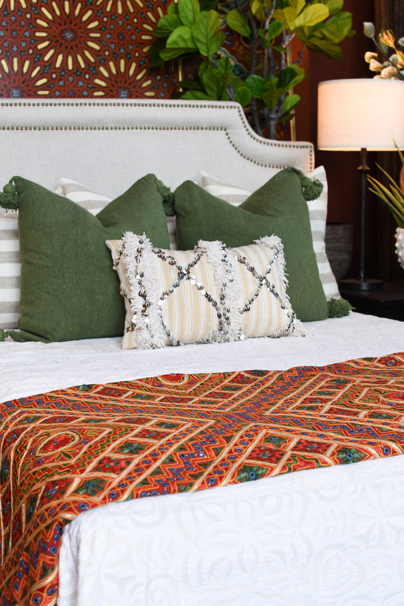 Queen Embroidered Bedcover