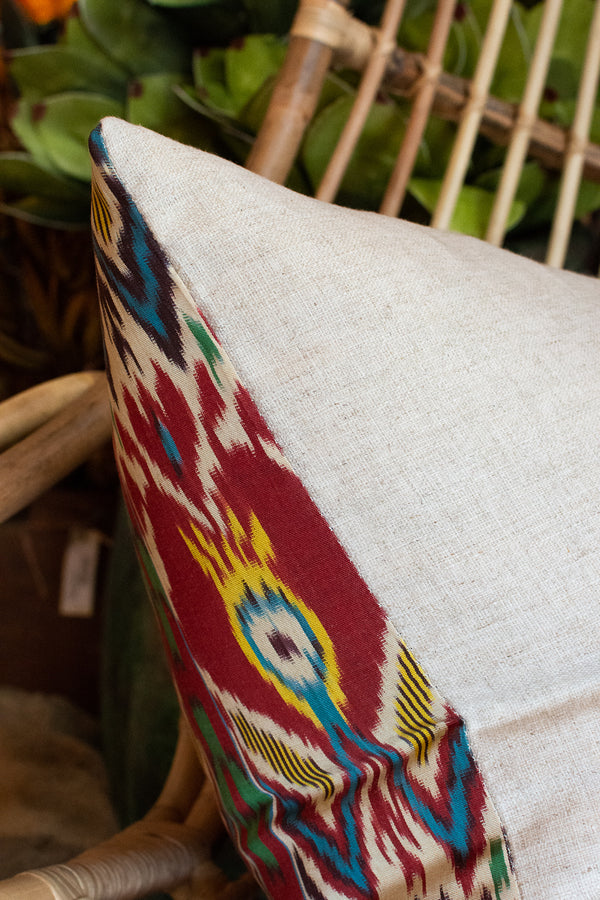 Silk Ikat Pillow - Square