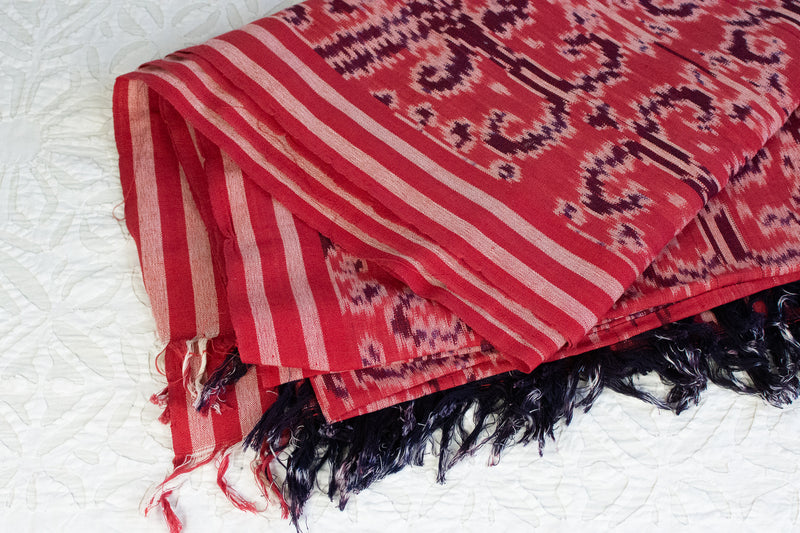 Ikat Throw Blanket - Pink and Purple