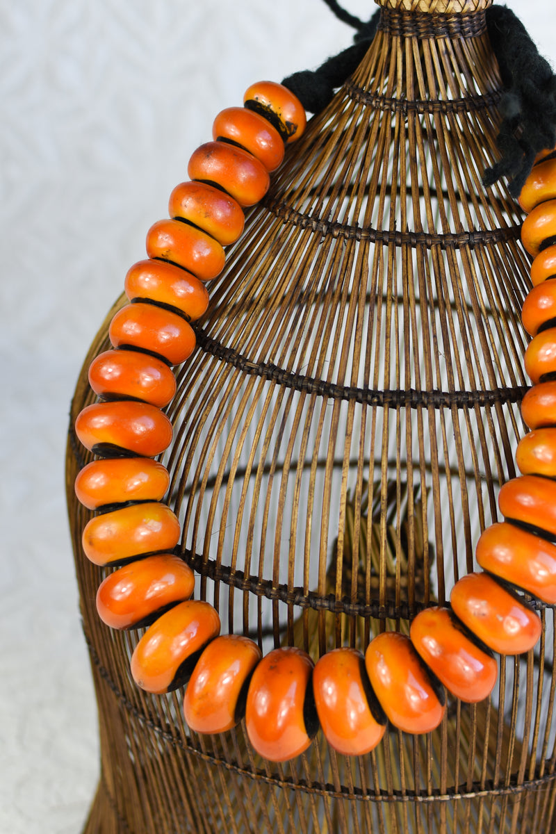 Large Faux Amber Beads