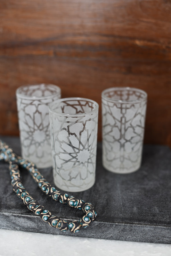 Glass Votive - Zouaq Pattern