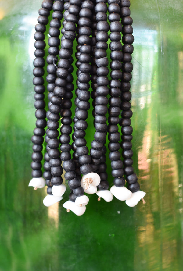 Black Bead Indonesian Tassel