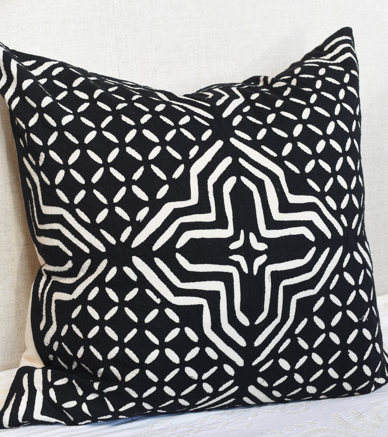 Black and White Appliqué pillow