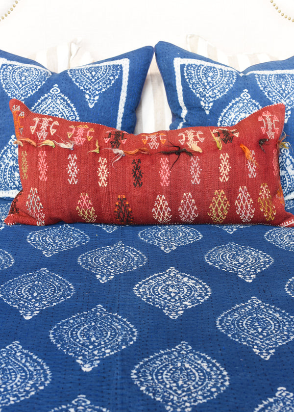 Indigo Blockprint Pillow