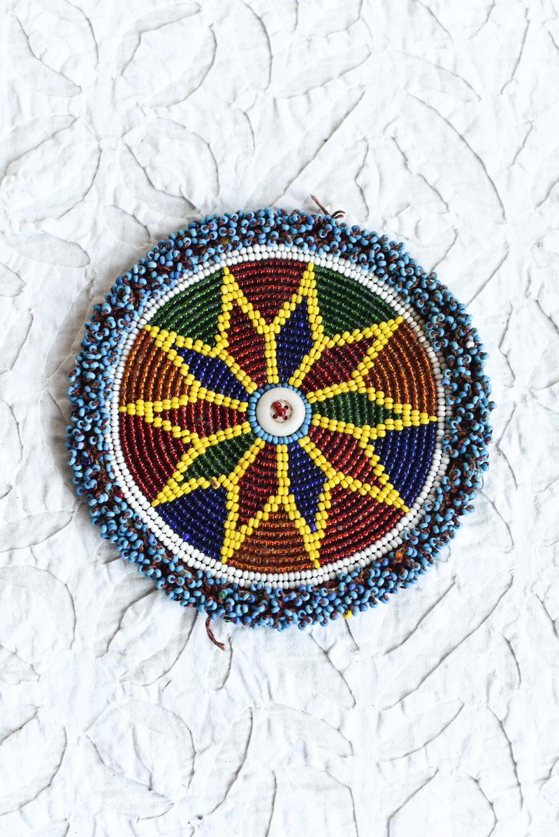 Vintage Kutch Beaded Patch