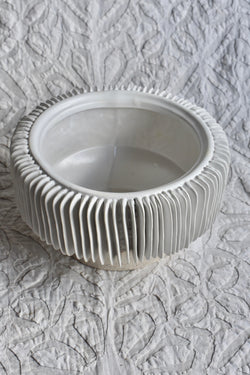 Fluted Low Planter