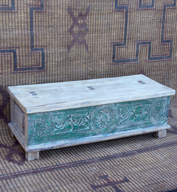 Carved End of Bed Chest