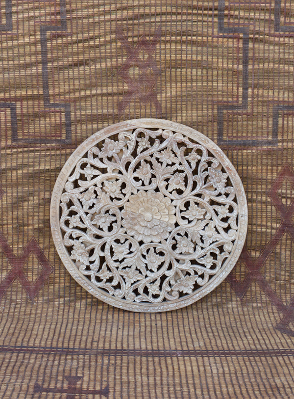 Carved Round Medallion