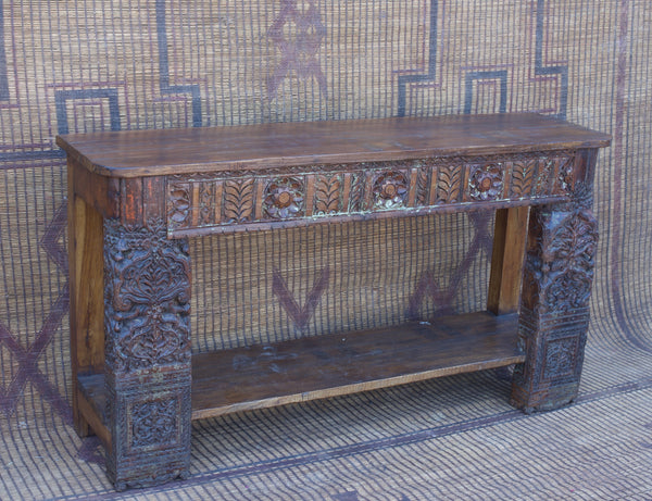 Architectural Salvage Carved Console Table