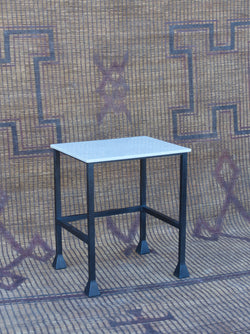 Marble Top Iron Side Table
