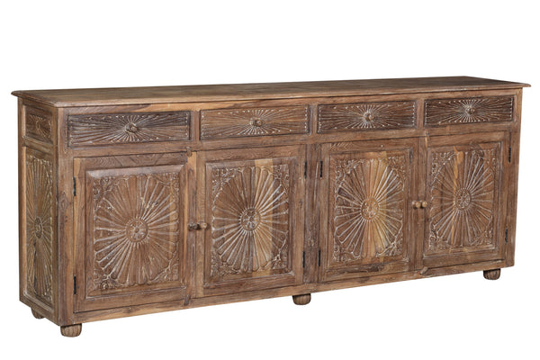 Carved Sunburst Buffet