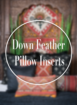 Down Feather Pillow Insert - 16 x 24