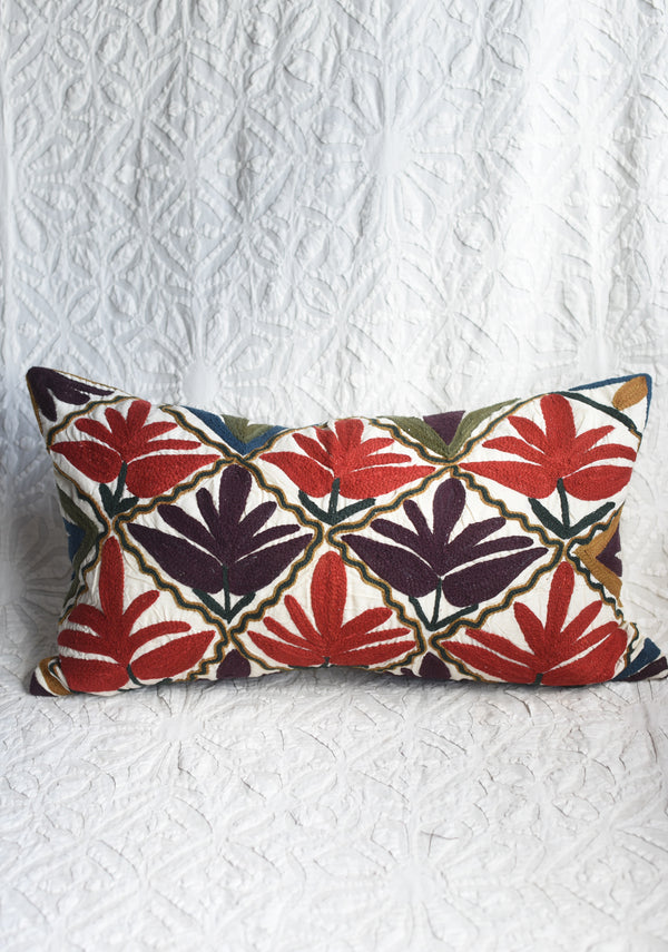 Suzani Style Crewelwork Pillow