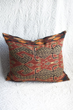 Sumba Ikat Lizard Pillow