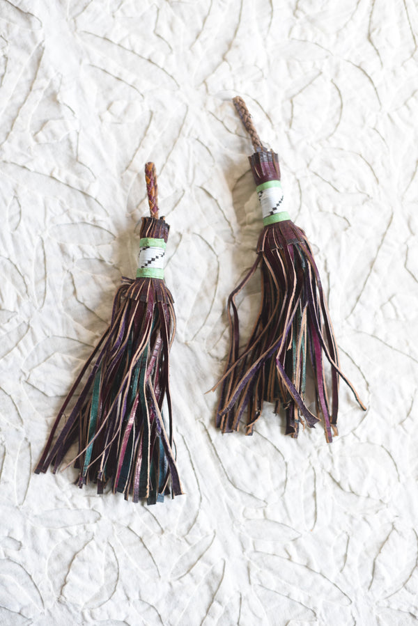 Moroccan Leather Key Chain Tassel