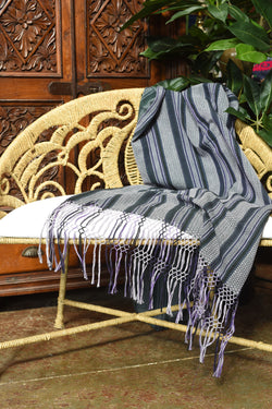 Handwoven Mitla Throw from Oaxaca