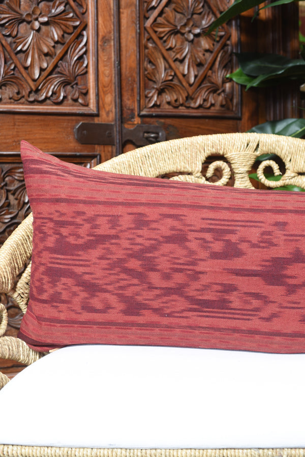 Long Indonesian Ikat Lumbar Pillow